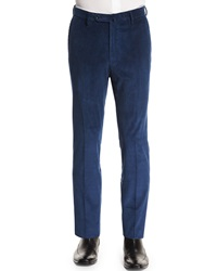 Incotex Wide Whale Corduroy Trousers Navy