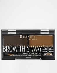 Rimmel London Brow This Way Eyebrow Kit Darkbrown