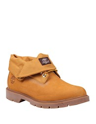 Timberland Icon Basic Roll Top Leather And Textile Boots Wheat