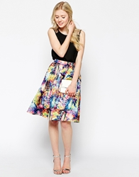 Max C London Max C Full Printed Skater Skirt Floral