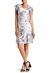 Komarov Flower Print Lace Cutout Dress Multi