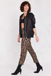 Silence And Noise Bridgitte Leopard Pull On Pant Brown