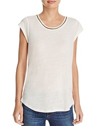 Soft Joie Damani Chain Trimmed Tee Porcelain