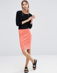 Vila Wake Pencil Skirt Aragon Combo Red