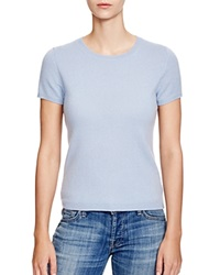 C By Bloomingdale's Short Sleeve Cashmere Sweater Powder Blue
