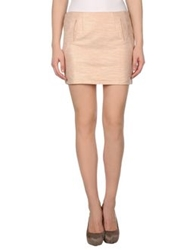 Armani Jeans Mini Skirts Skin Color