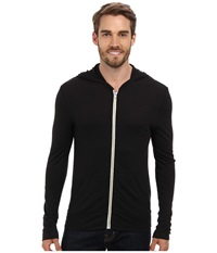 Alternative Apparel L S Zip Hoodie Eco True Black Men's Sweatshirt