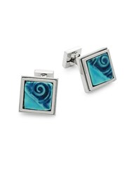 Ike Behar Artisan Swirl Square Cuff Links Multi