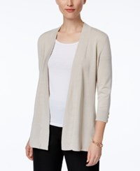 Charter Club Honeycomb Stitch Open Front Cardigan Only At Macy's Sand