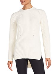 Aquilano Rimondi Ribbed Wool And Cashmere Sweater Tunic Ivory