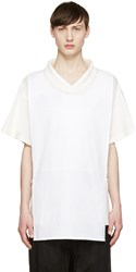 D.Gnak By Kang.D White Layered T Shirt
