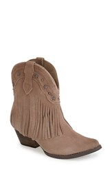 Women's Very Volatile 'Deerwood' Fringe Western Boot Taupe