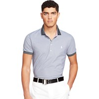 Ralph Lauren Polo Golf By 3 Button Polo Shirt Charcoal Grey