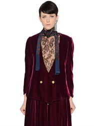 Lanvin Double Breasted Velvet Jacket