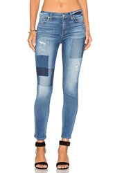 7 For All Mankind Patch Ankle Skinny Light Patched Denim