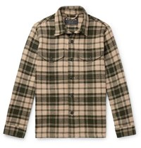 Filson Deer Island Checked Brushed Cotton Twill Overshirt Green