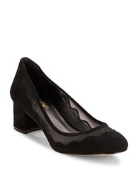 424 Fifth Vinney Mesh Accented Suede Pumps Black