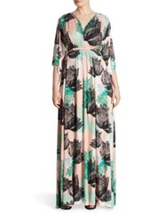 Rachel Pally Plus Size Printed Long Caftan Dress Agave Print