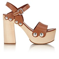 Prada Women's Ankle Strap Clog Sandals Nude