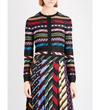 Mary Katrantzou Striped Knitted Cardigan Multi