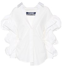 Jacquemus Santon Cotton Blouse White
