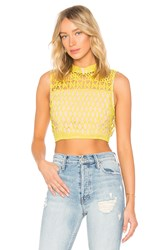 Endless Rose Guipure Lace Top Lemon