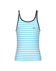 Emporio Armani Underwear Sleeveless Undershirts Men Turquoise