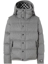 Burberry Detachable Sleeve Cashmere Hooded Puffer Jacket 60