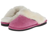 Old Friend Ladies Scuff Hot Pink White Shoes