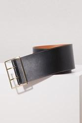 Maison Boinet Double Grommet Belt Black