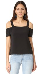 Cooper And Ella Ava Cold Shoulder Top Black
