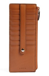 Lodis Women's Rfid Leather Credit Card Case Brown Toffee