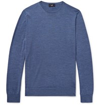 Dunhill Melange Wool Sweater Storm Blue