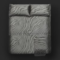 Roberto Cavalli Limited Edition Macro Zebrage Bed Sheet Set Grey