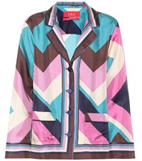 F.R.S For Restless Sleepers Printed Silk Shirt Multicoloured