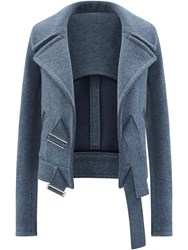 Paco Rabanne Tailored Jacket Blue