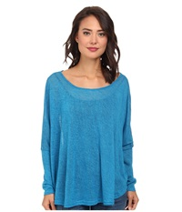 Gabriella Rocha Chrissy Long Sleeve Top Turquoise Women's Clothing Blue