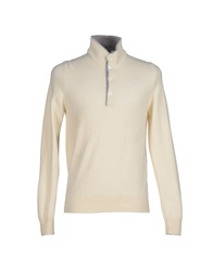 Gran Sasso Turtlenecks Ivory