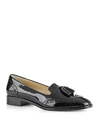 Hobbs London Briar Patent Leather Loafers Black Cheetah