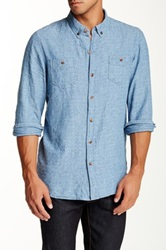 Artisan De Luxe Jasper Stitched Long Sleeve Shirt Blue