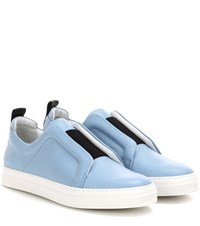 Pierre Hardy Slider Leather Sneakers Blue