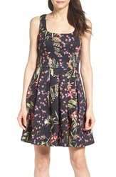 French Connection Women's Bluhm And Botero Fit And Flare Dress