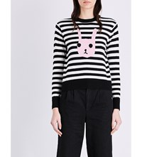 Chocoolate Bunny Motif Knitted Jumper Black