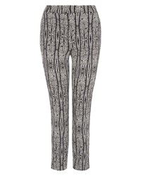 Jaeger Aztec Print Cropped Trousers Black