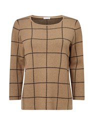 Eastex Camel Check Knitted Jumper Multi Coloured Multi Coloured