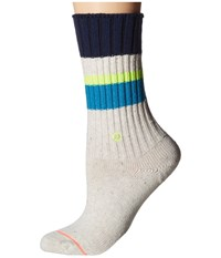 Stance Basically Basic Teal Women's Crew Cut Socks Shoes Blue