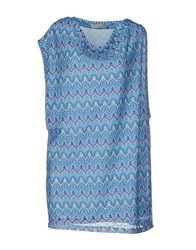 Maison Espin Short Dresses Blue