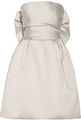 Lanvin Bow Embellished Duchesse Satin Dress Metallic