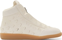 Maison Margiela Cream Stamped Gladiator Sneakers