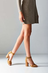 Urban Outfitters Mary Suede Heel Tan